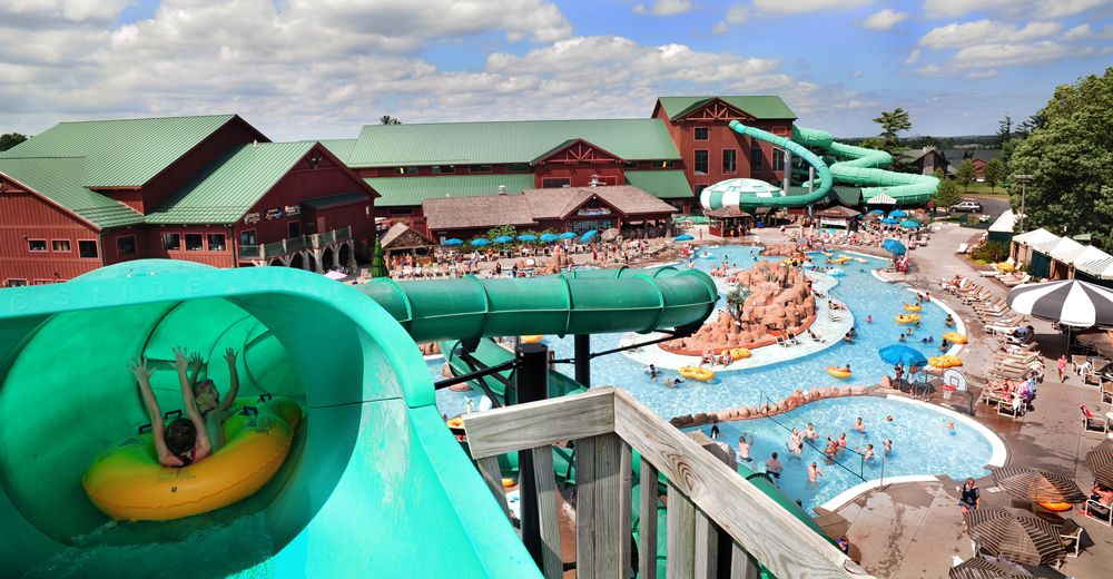 Lake Wilderness Waterpark at Wilderness Resort in Wisconsin Dells. Lake Wilderness Waterpark at Wilderness Resort in Wisconsin Dells
