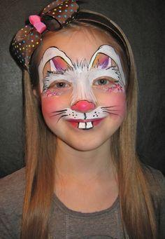 Beau Bunny Design   Face Painting By Jenn