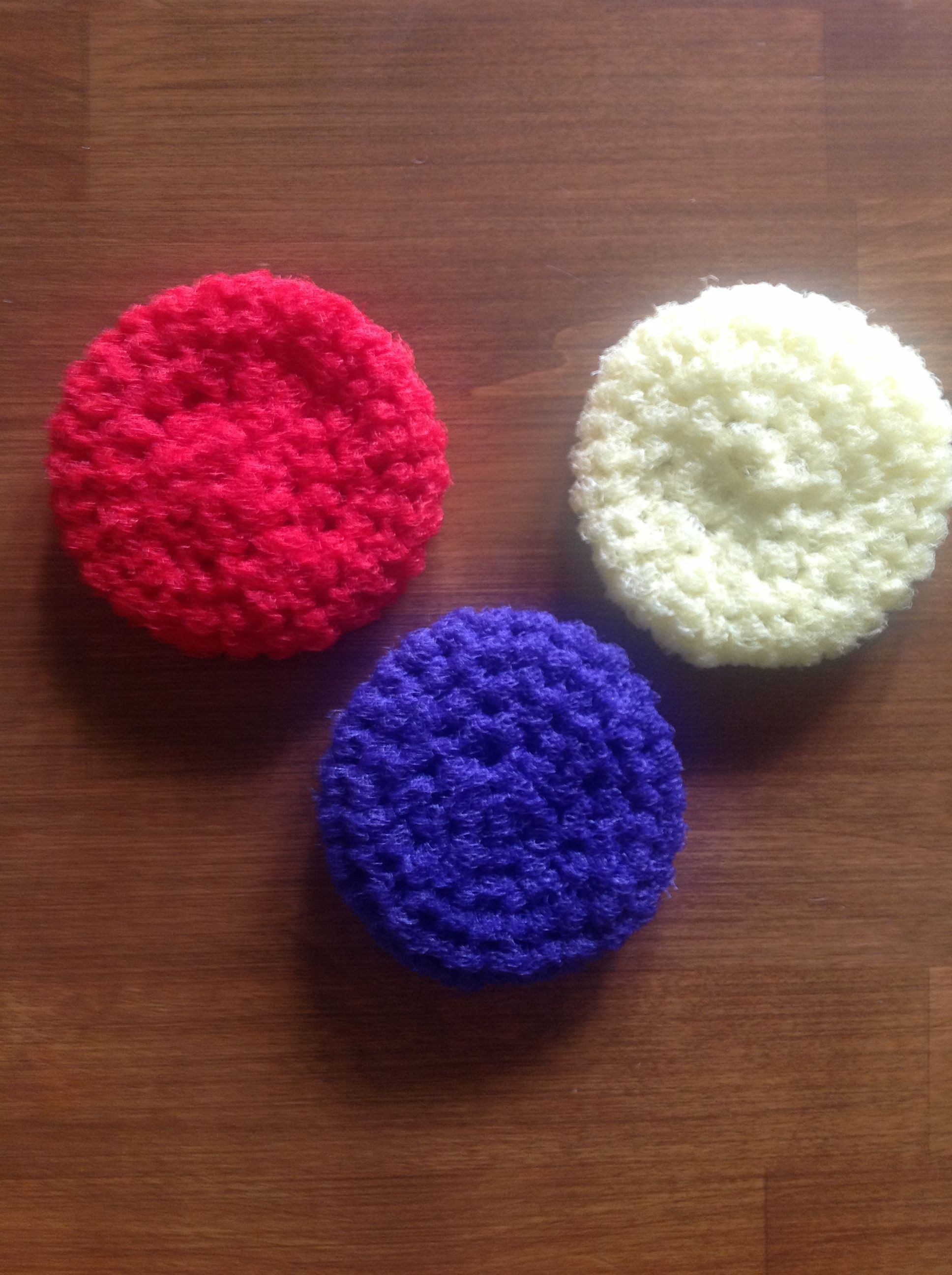 Here are some crocheted pot scrubbers i have made from nylon net here are some crocheted pot scrubbers i have made from nylon net the link below bankloansurffo Gallery
