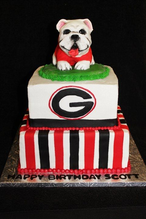 Astonishing Georgia Bulldog Birthday With Images Bulldog Cake Georgia Funny Birthday Cards Online Elaedamsfinfo