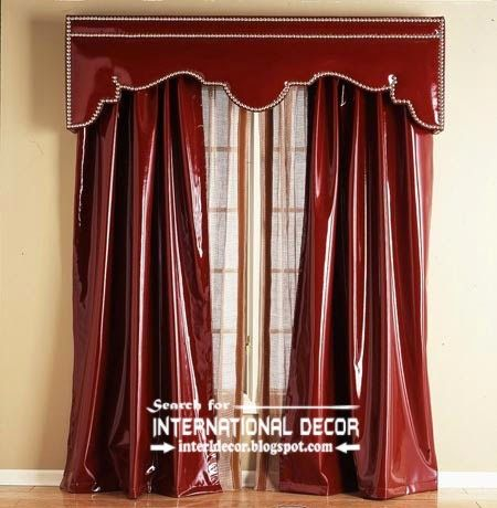 Red Leather Curtains And Valance Bright Curtains 2015