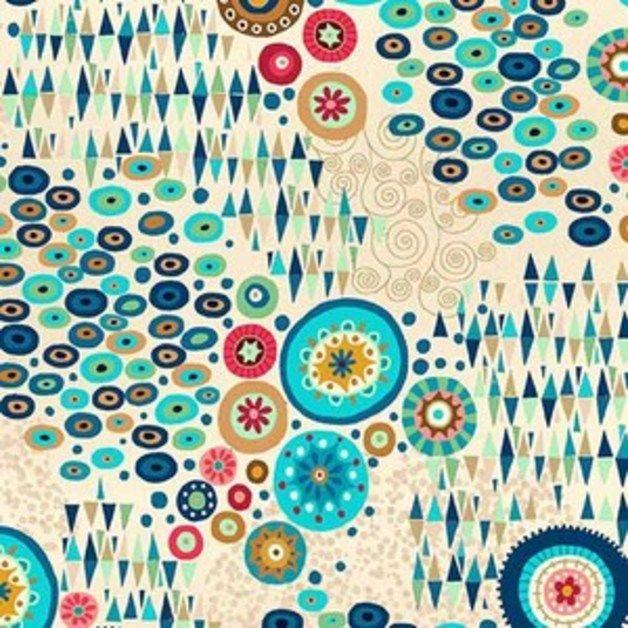 stoff ornamente makower uk aura in multi ein designerst ck von dinofabric bei dawanda. Black Bedroom Furniture Sets. Home Design Ideas