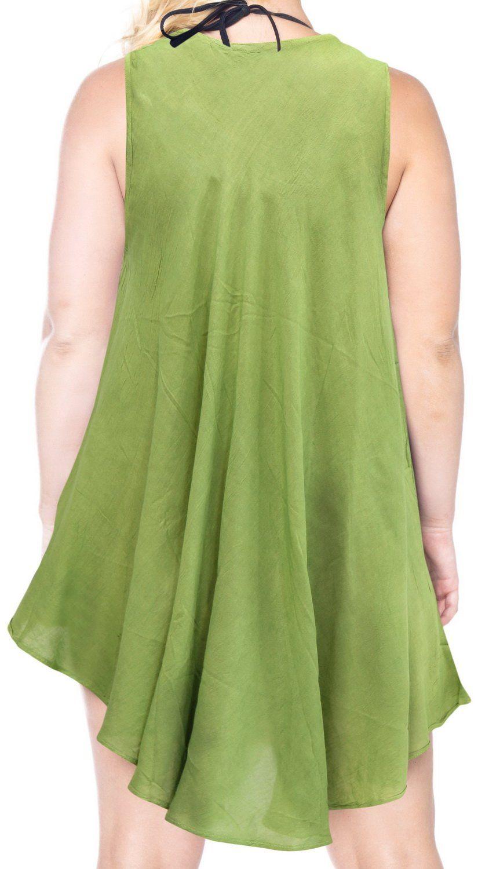 6e6cf521b8c5 Maternity Fashion - casual maternity maxi dress : La Leela Tie Dye Dress  Womens Short Cover UPS Beach Evening Rayon Above Knee Green [ONE SIZE]US:  14L18XL ...