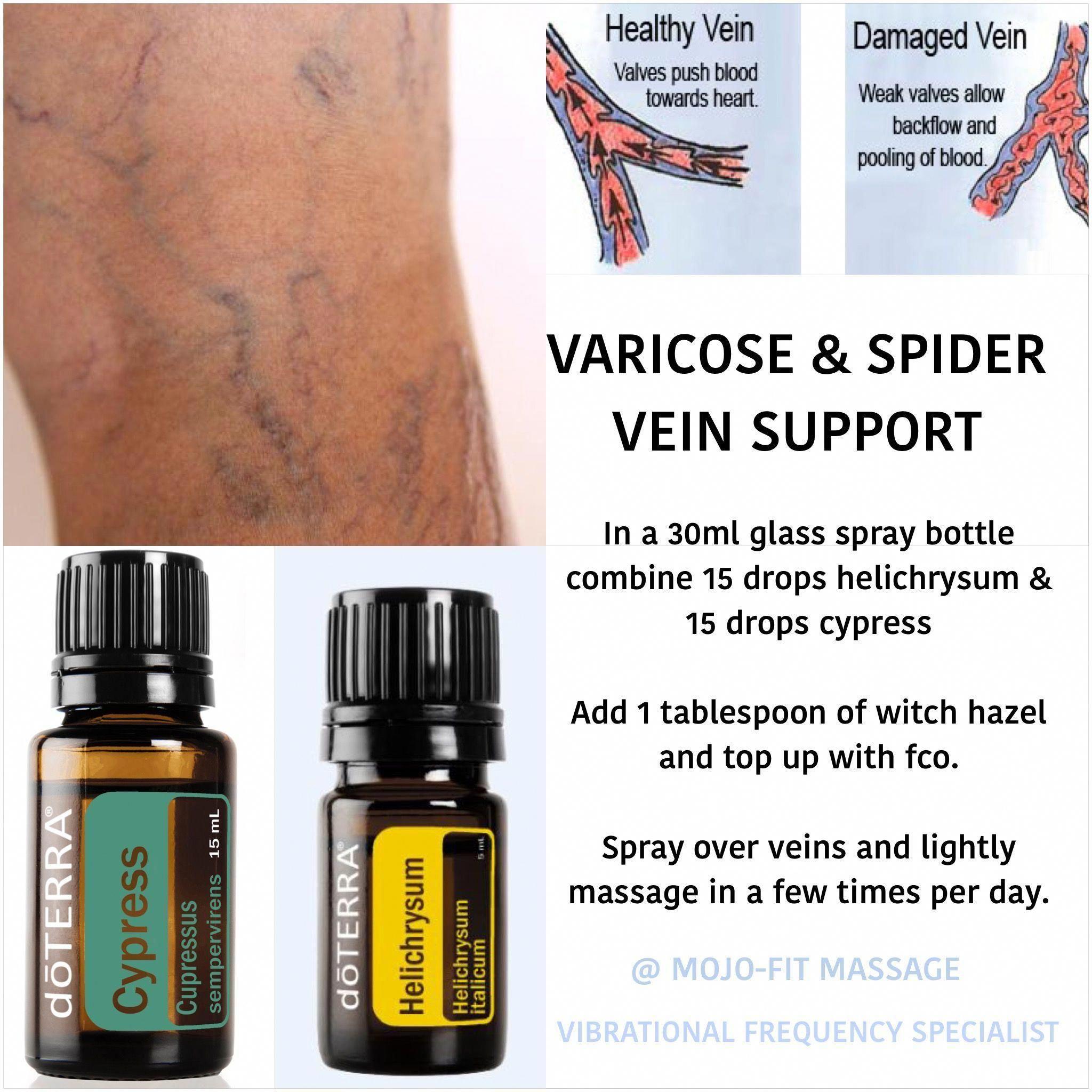 utilizarea uleiurilor în varicoză