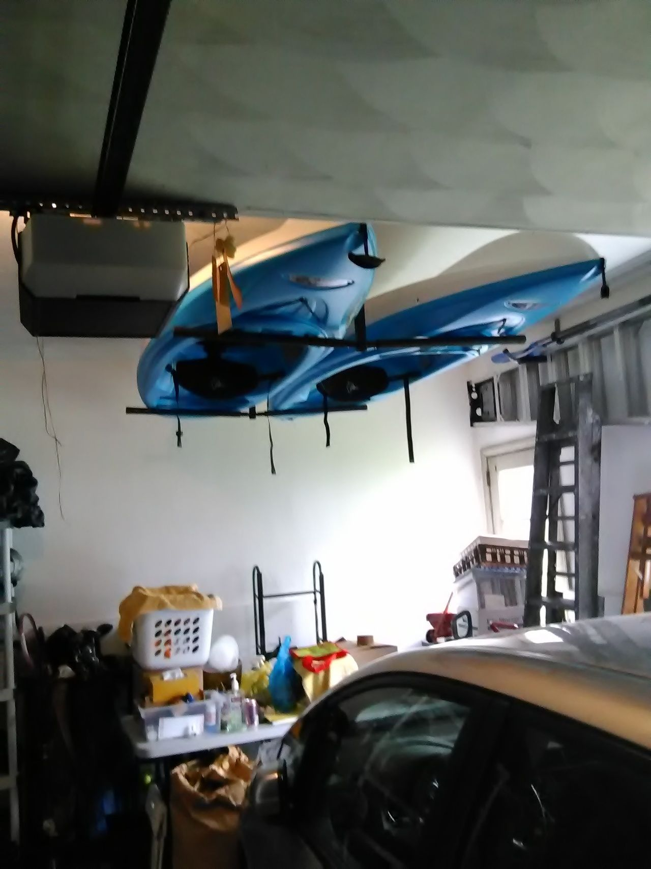2 Kayak Ceiling Storage Rack Hi Port 2 Adjustable Overhead Mount Ceiling Storage Kayak Storage Kayak Storage Garage