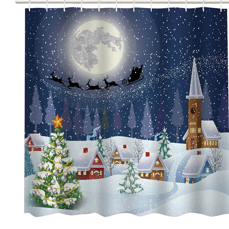 Details zu 12 Hook Weihnachten Schneemann Stoff wasserdicht Bad ...