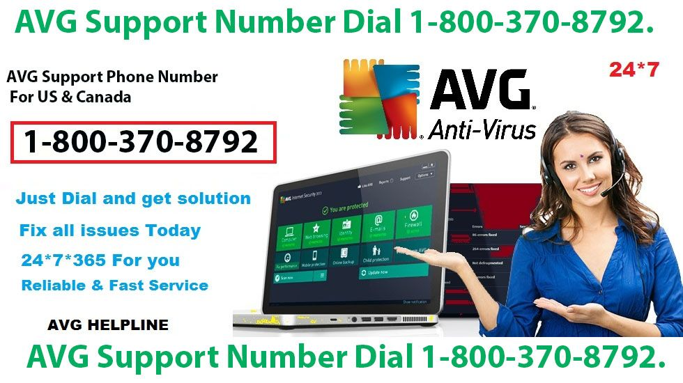 Avg support number dial 18003708792 online security