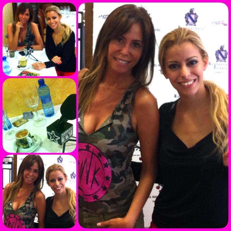Disfrutando con la actriz Lara Dibildos durante la entrevista Star!