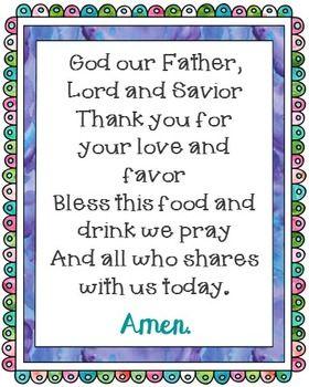Prayer Blessings Dinner Meals