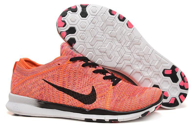 Nike free shoes · Nike 5.0 fly line orange black Women