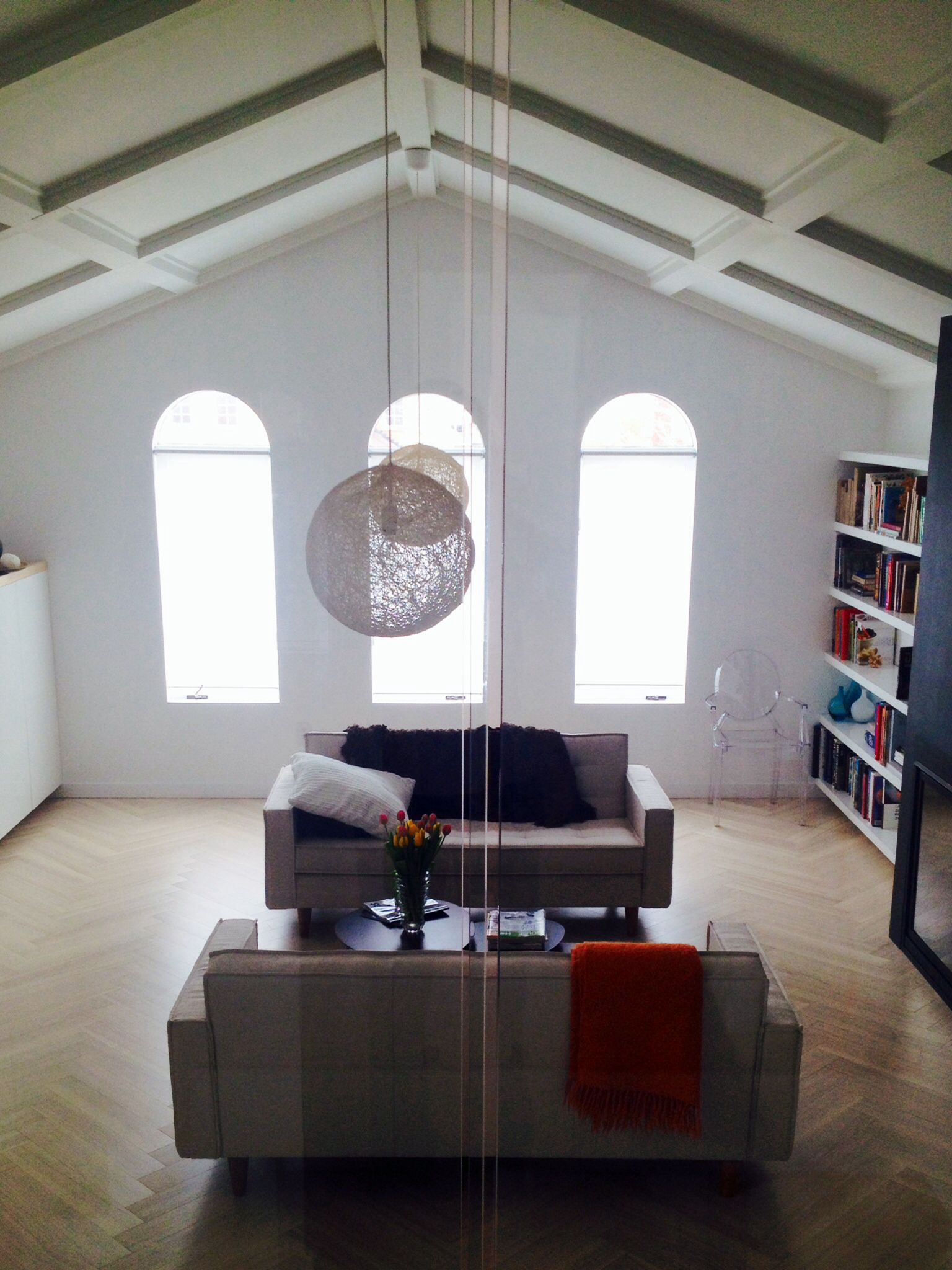 Family Room Vaulted Ceiling Is Amazing, No More Popcorn The