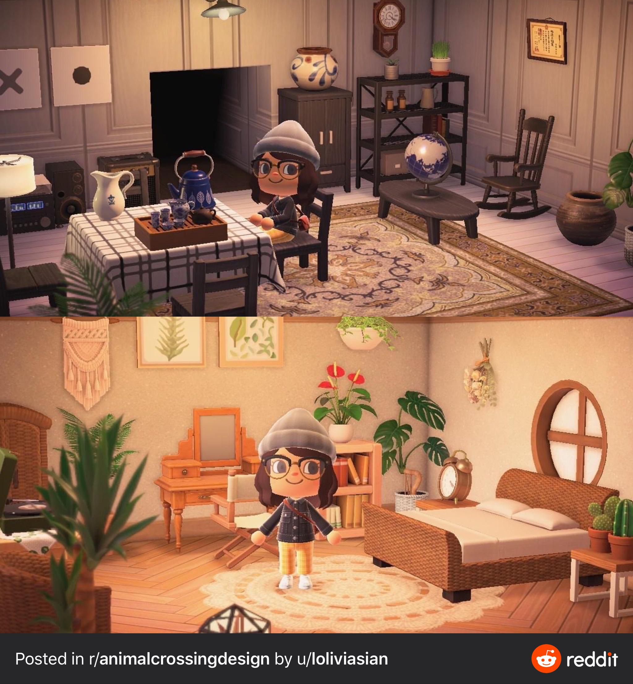 Living Room Bedroom in 2020   Animal crossing villagers ... on Animal Crossing Living Room Ideas  id=38179