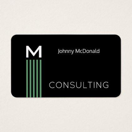 Minimal stripe black rounded business card reheart Choice Image