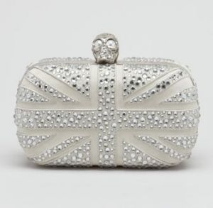 Alexander McQueen Crystal Britannia Box Clutch Bag
