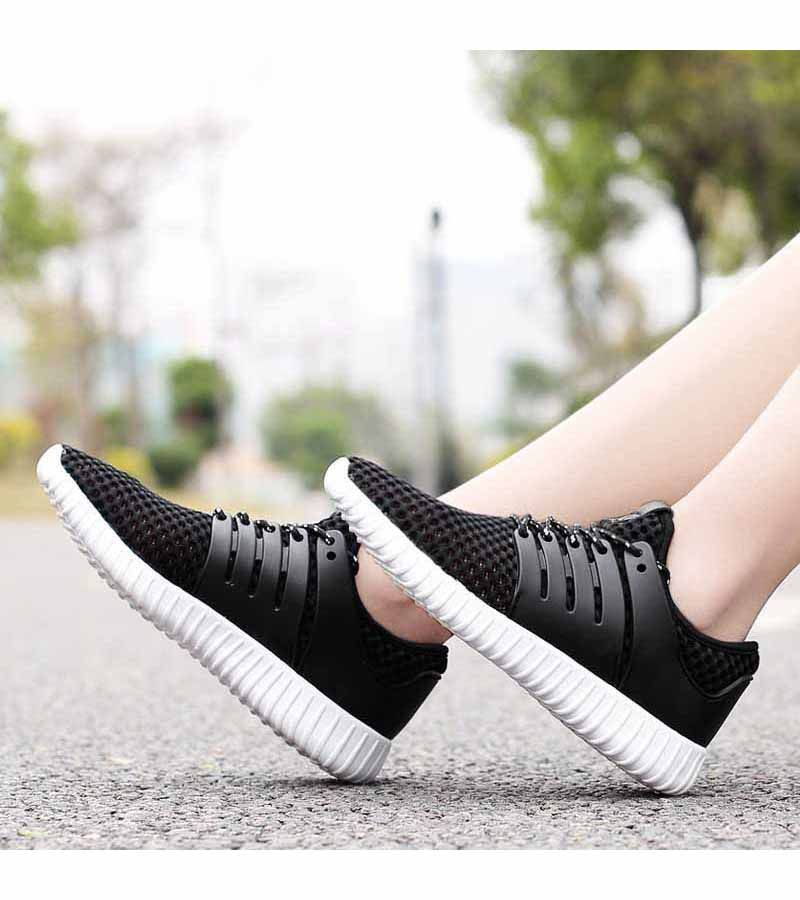 Black casual hollow out shoe sneaker in 2019   Womens