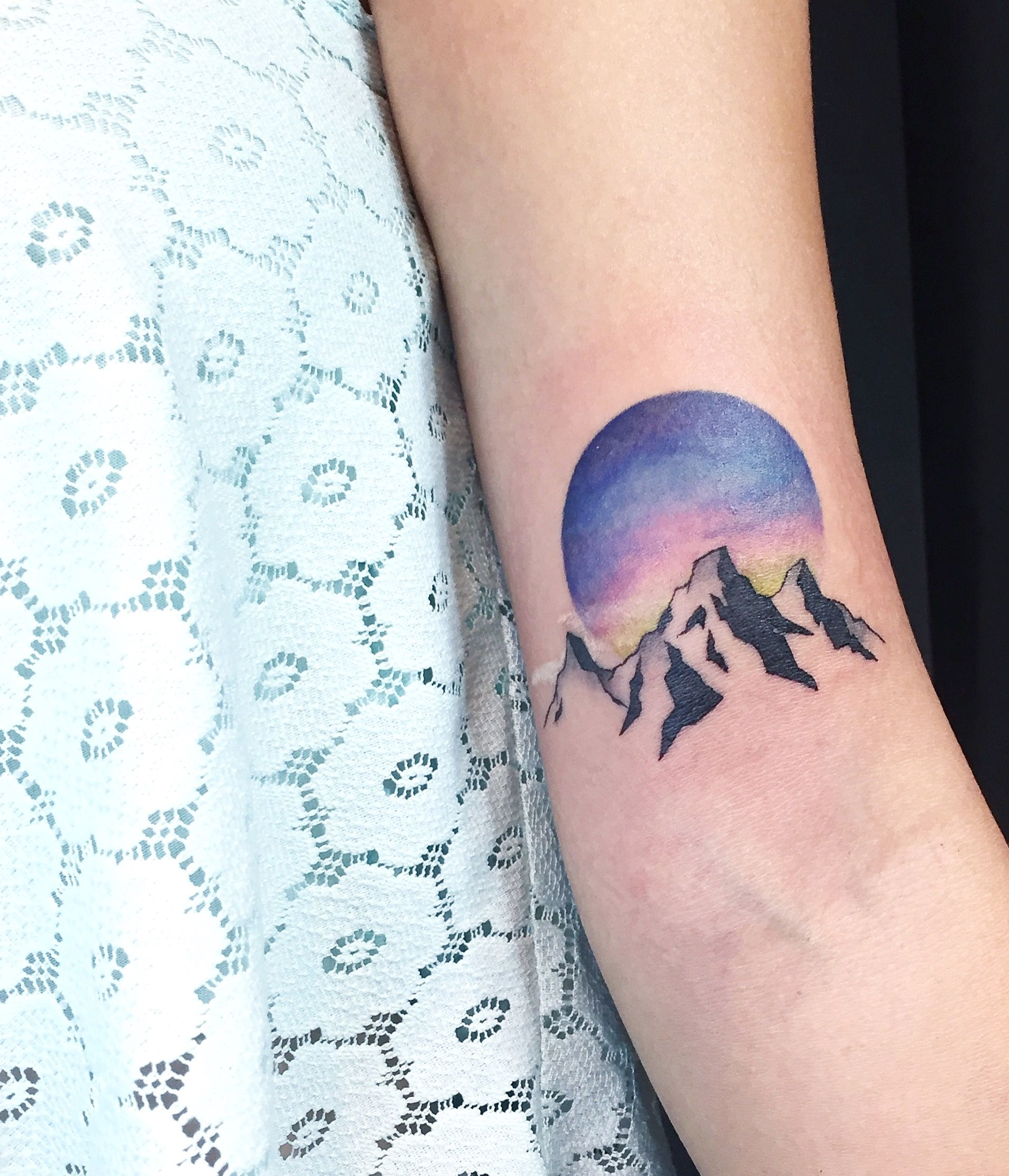Sunrise Tattoo Landscape Tattoo Mountains Instagram