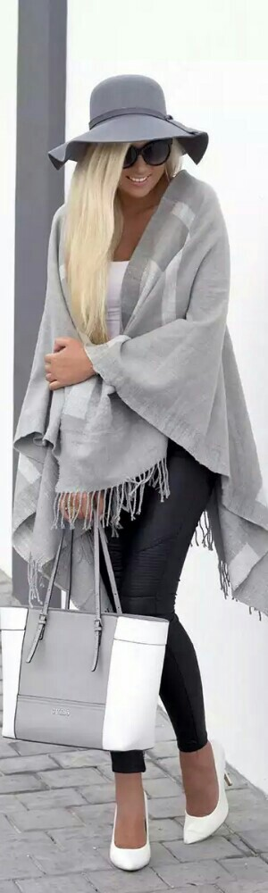 Forever New Grey Cape / Fashion by Superficialgirls