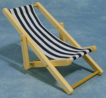 Dolls House Miniature Seating Miniatures Patio Lounge Chair