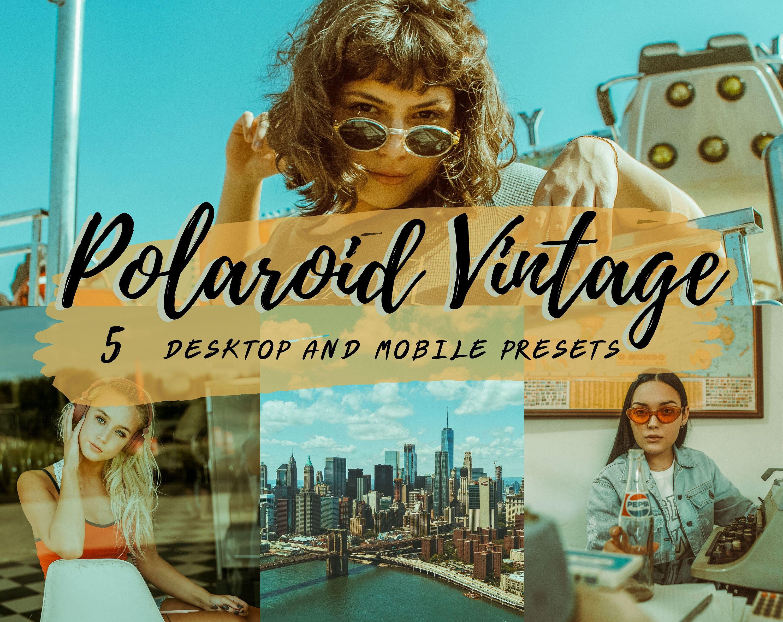12 Lightroom Mobile Presets Desktop Polaroid Vintage Analog Etsy Vintage Lightroom Presets Retro Photo Lightroom