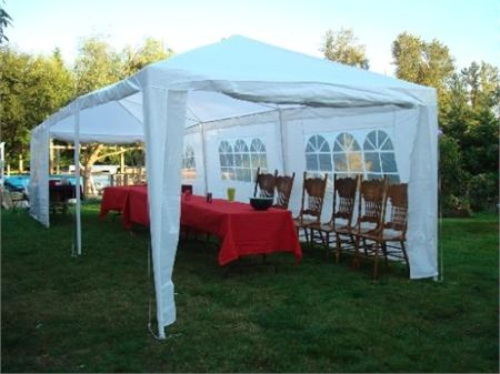 Palm Springs 10 X 30 White Party Tent With 8 Sidewalls Party Tent Wedding Party Tent Party Tents For Sale