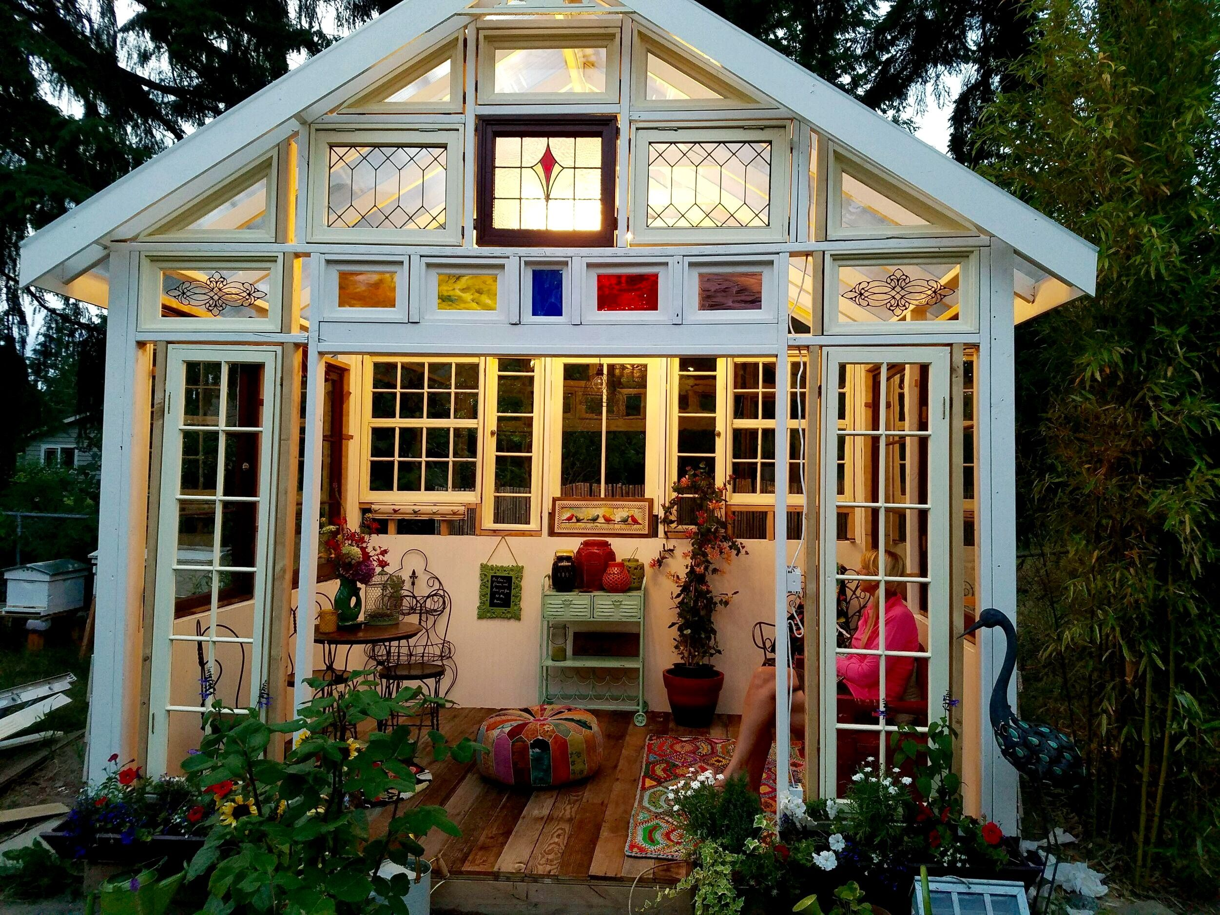 my new she shed/greenhouse | Garden\'s, sheds, and flowers ...