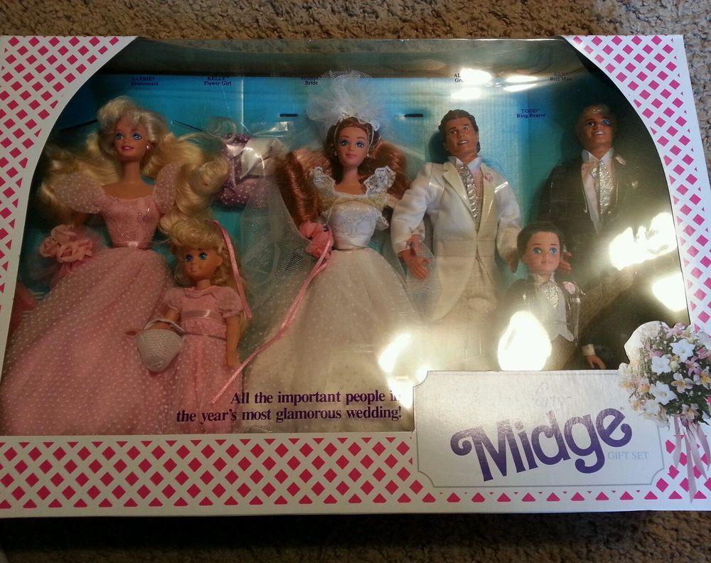 Vintage 1990 Mattel, Wedding Party Midge Gift Set, NRFB, #9852, Barbie Alan Ken!