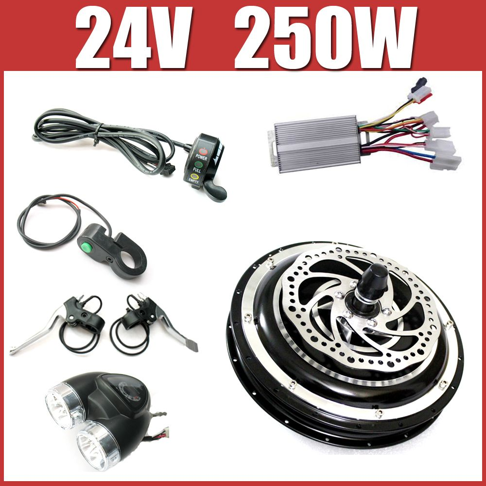 24v 250w Electric Bike Disc Brake Kit Dc Hub Motor Conversion