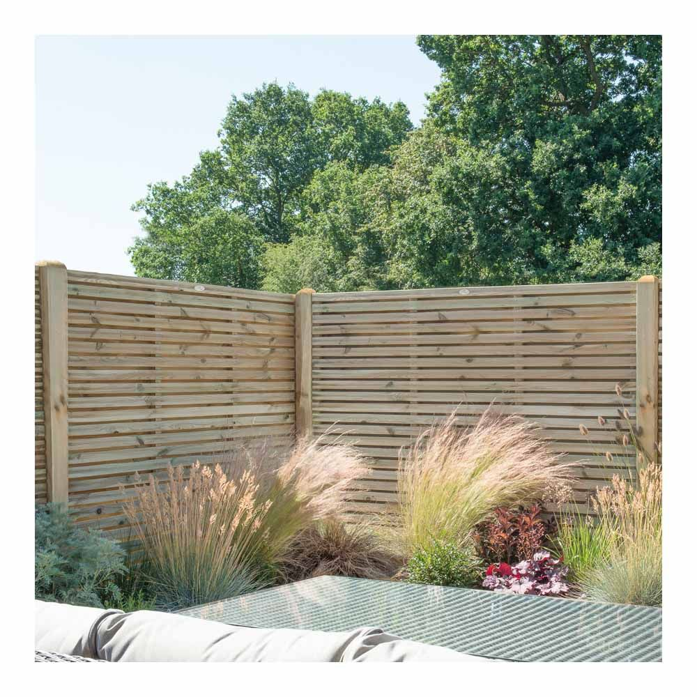 Forest Garden Double Slatted Gate 6ft 1 83m High Slatted Fence Panels Garden Fence Panels Decorative Fence Panels
