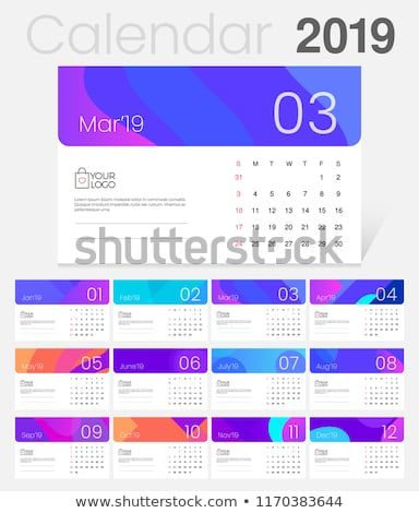 2019 Desk Calendar Simple Colorful Gradient minimal elegant desk
