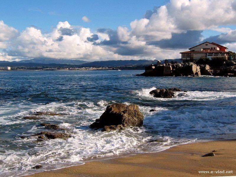 Monterey Beach California Bay Coastline And In