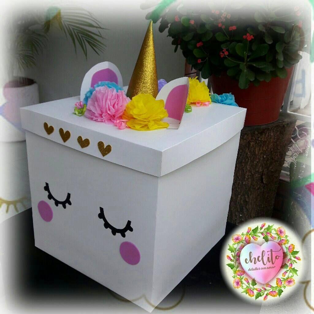 Souvenir fiesta unicornio pinterest unicornio for Cajas personalizadas con fotos
