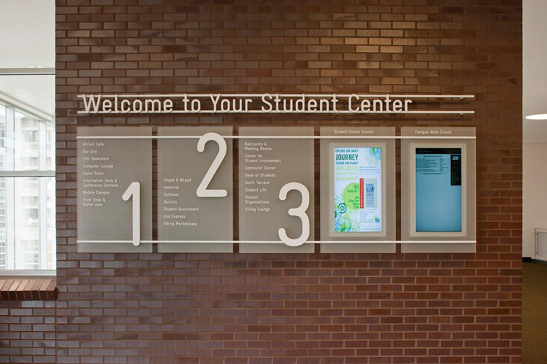 Valley City Sign for Cleveland State University Student Center | cleveland state