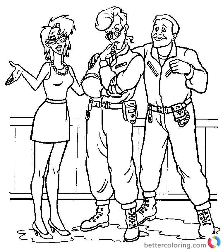 Free Ghostbusters Coloring Pages For Kids And S