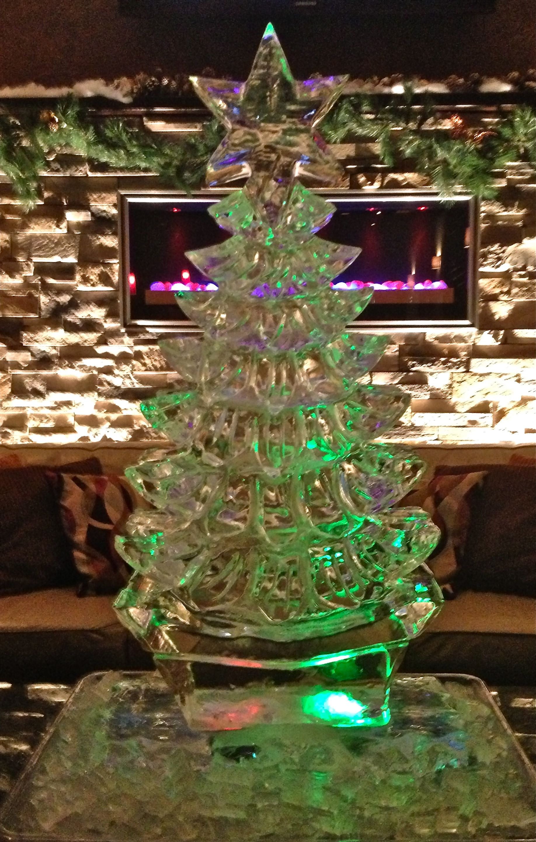 Ice Sculpture Christmas.Custom Christmas Tree Ice Sculpture Holidays I Love