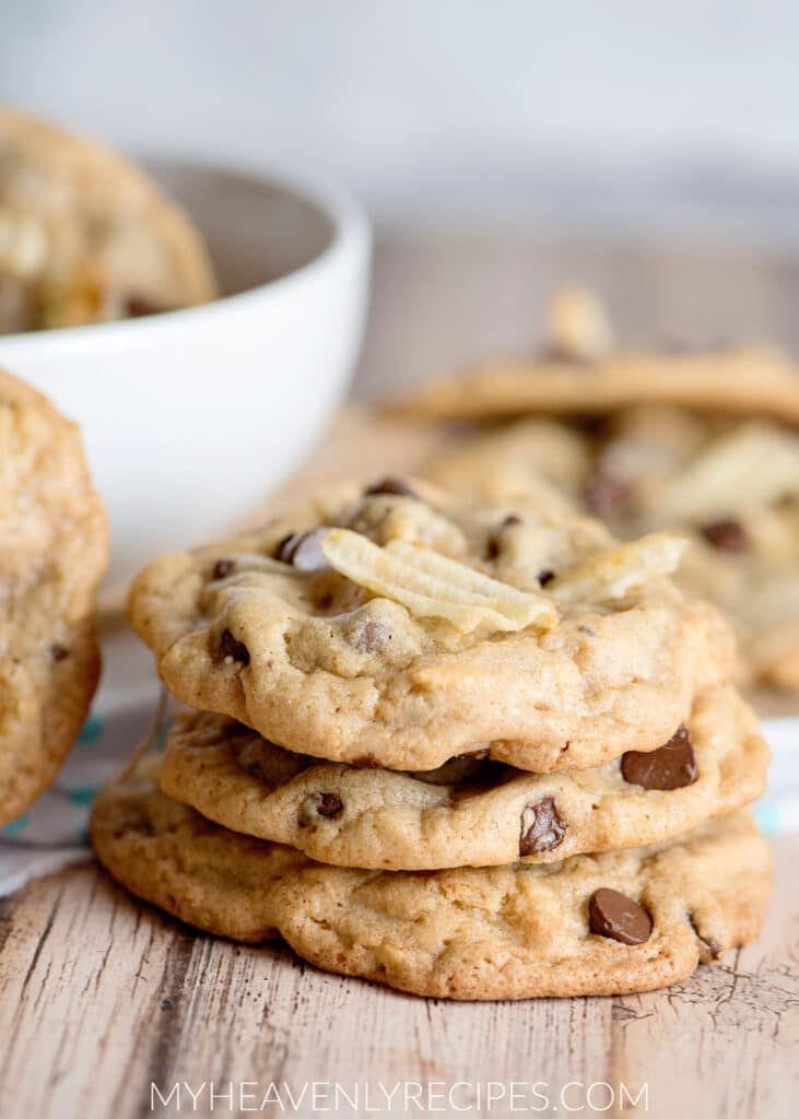 Potato Chip Cookies - My Heavenly Recipes #potatochipcookies