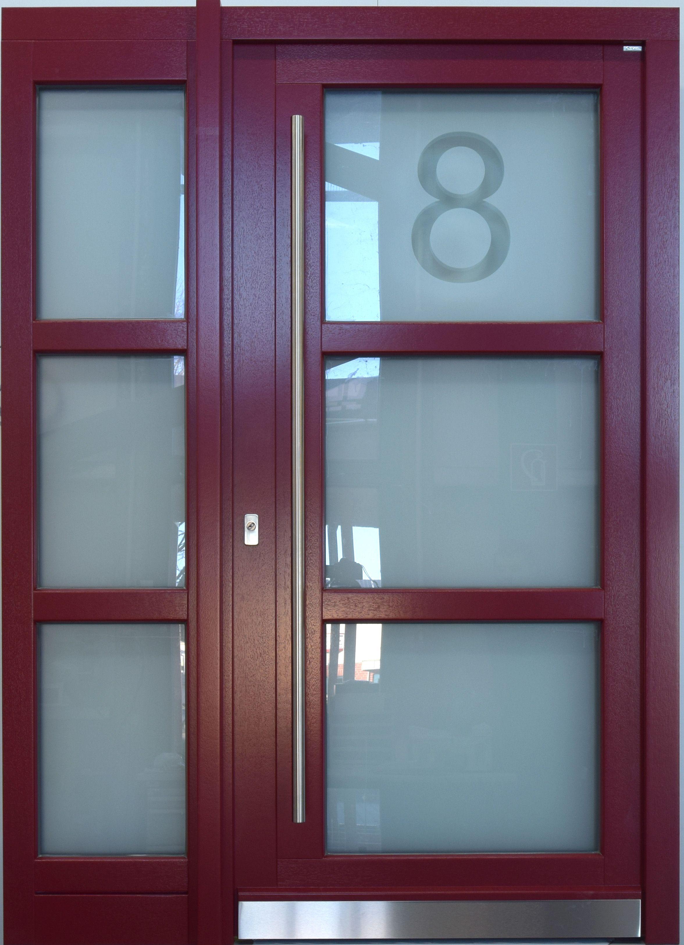 Haustür Mit Hausnummer Im Glas Verewigt Mit Moderner