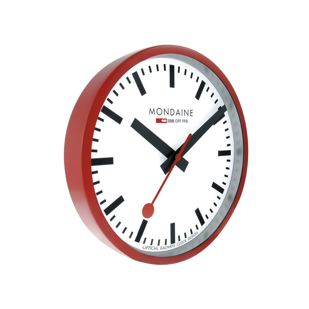 Mondaine Swiss Railway Wall Clock For More Inspiration Follow Us On Instagram And Facebook Reale Mondaine Wall Clock Clock Swiss Railway Wall Clock