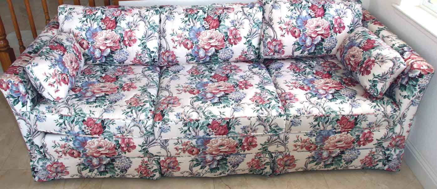 Flowered Couch