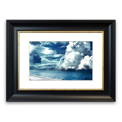 Photo of East Urban Home Framed Graphic Print Cloudy Seaside Sky Wayfair.de
