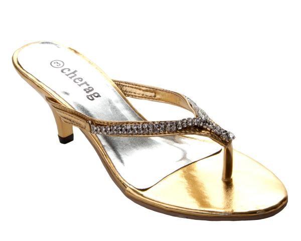 Womens Gold Kitten Heel Wedding Party Sandals Ladies Heels Bridal Shoes Low Heel Kitten Heels Wedding