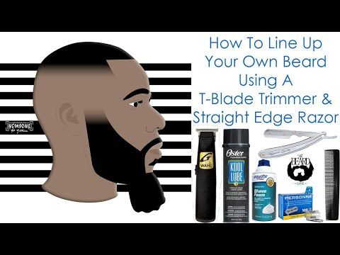How To Line Up Your Own Beard Using A T Blade Trimmer Straight Edge Razor Parker Sr1 Straight Edge Razor Straight Razor Shaving Beard Line