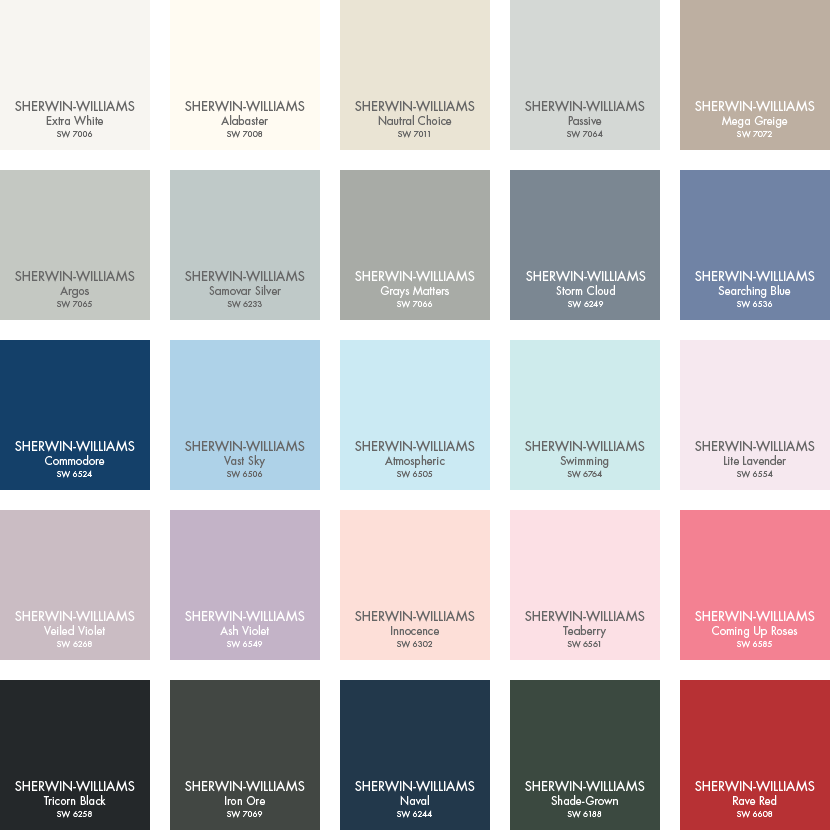 Paint Colors From Sherwin Williams Pottery Barn Paint