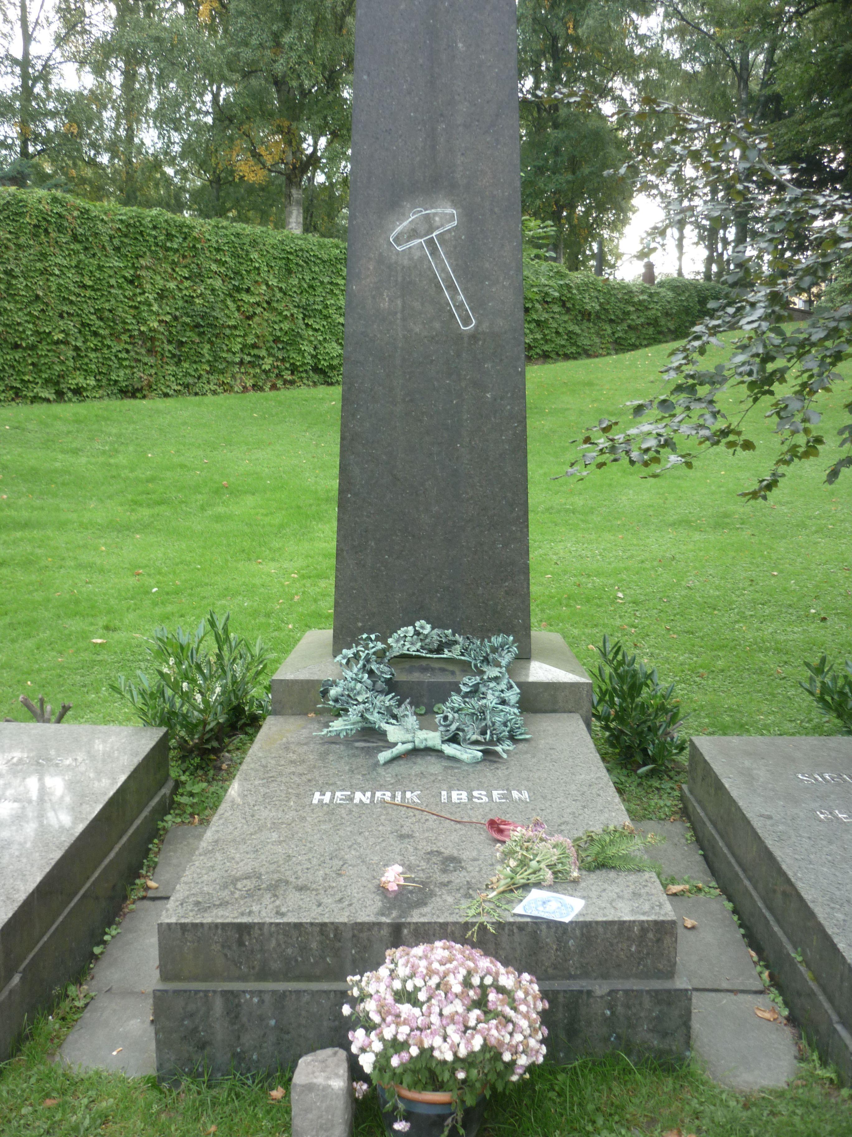 Henrik Ibsen 1828 1906 Location Cemetery Of Our Saviour Oslo