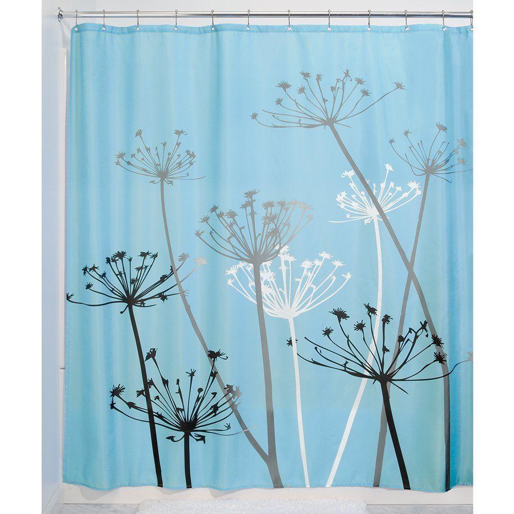 Black And White Dandelion Shower Curtain Printing Waterproof
