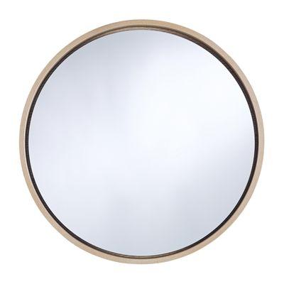 Deknudt Mirrors 8046 Bwn Radius Medium Oak Wall Mirror Mirror