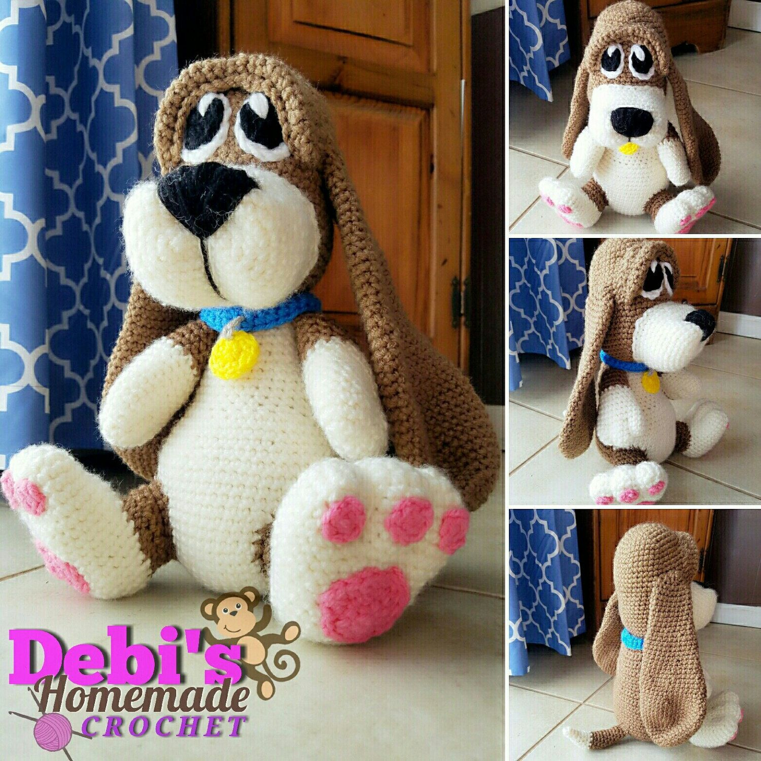 Homemade car toys  Basset Hound Puppy MadetoOrder Crochet  Crochet Color combos