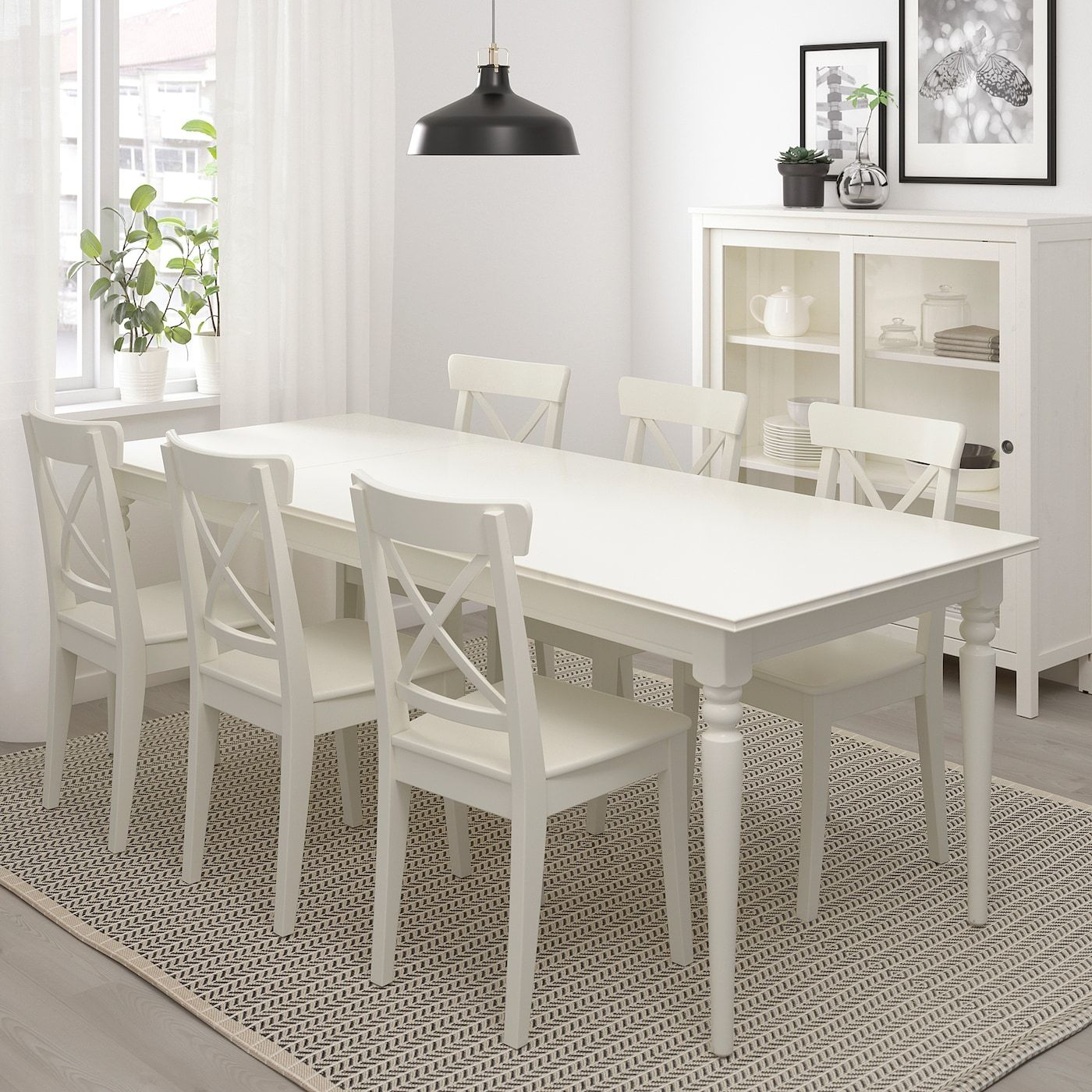 white dining table white dining room