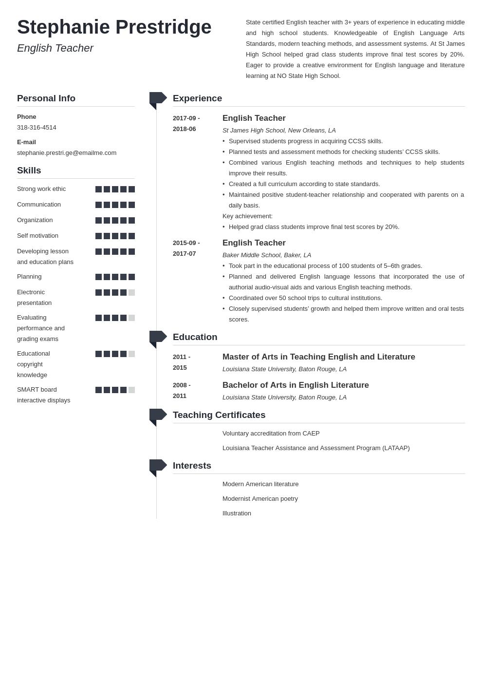 English Teacher Resume Example Template Muse Teacher Resume Resume Examples Job Resume Examples