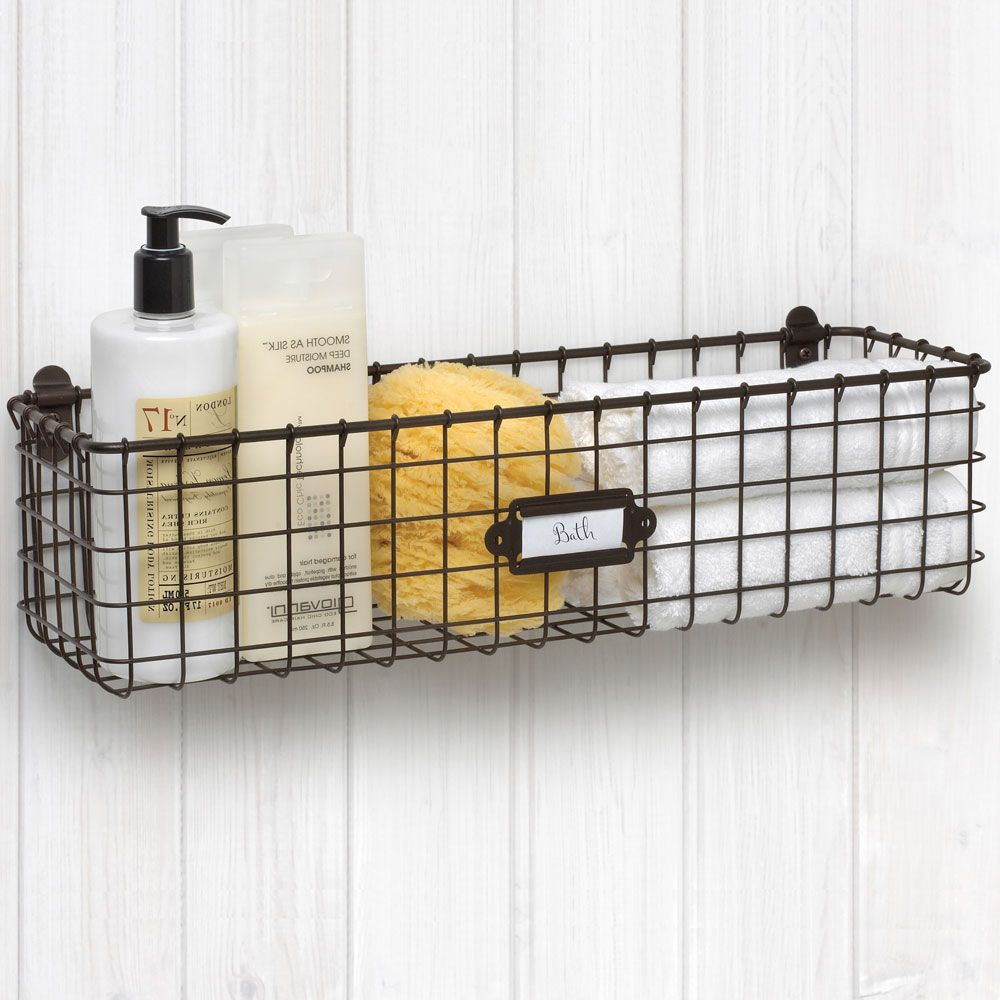 Wall Mounted Wire Basket   Vintage