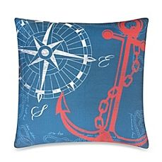 image of Anchors Away Outdoor Toss Pillow in Nautical